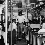 Photo of a racially segregated bus.