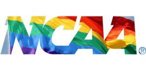 The NCAA logo as a pride flag