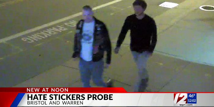 WPRI image of hate sticker suspects