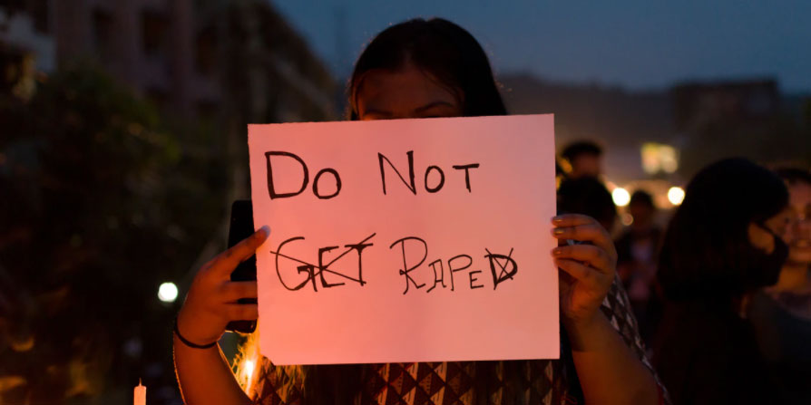 Do Not Get Raped sign