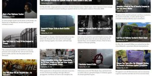 Screenshot of online magazine with Speaker fire story