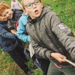Children in tug of war