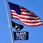 The BLM flag flown in Barrington, RI