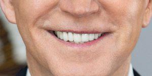 Joe Biden's smile.