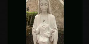 Decapitated Jesus statue