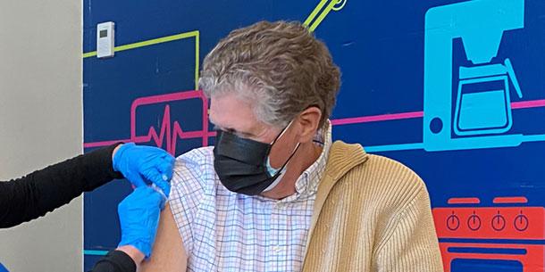 Dan McKee gets vaccinated