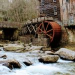 A water mill on a river