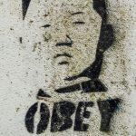 Obey Kim Jong-Un graffitti