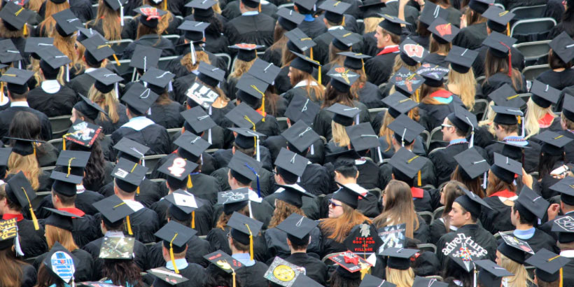Students graduating from college.