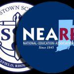 NEA-RI logo overshadows South Kingstown schools logo
