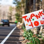 """A """"thank you"""" road sign"""