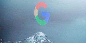 Google computer start screen