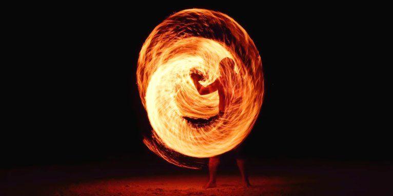 Firedancer in a ring of fire