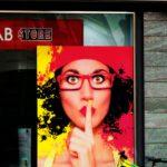 A shush post at VisionLab