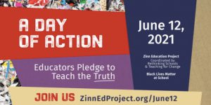 Flier for the Zinn Education Project day of action