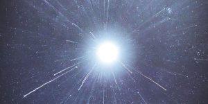 An explosion of light