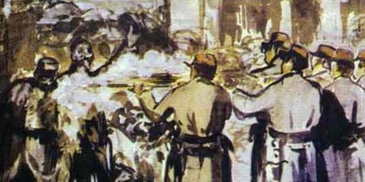 Edouard Manet's The Barricade (Civil War)