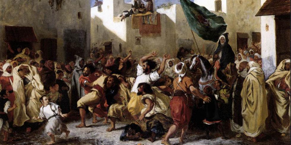 Eugene Delacroix Fanatics of Tangiers