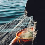 A fisherman with his net