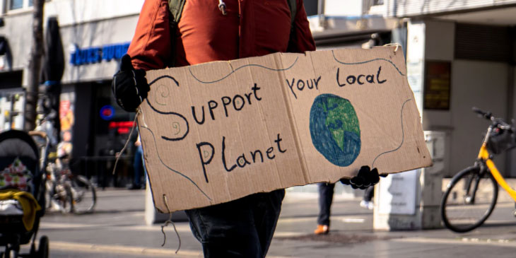 Support Your Local Planet Protest Sign