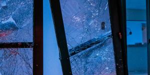 Broken windows after BLM riot