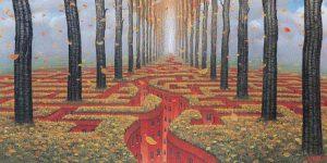 Autumn Labyrinth by Jacek Yerka