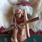Statue of Jesus kneeling