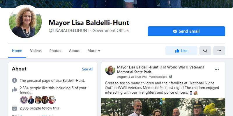 Mayor Lisa Baldelli-Hunt's Facebook page
