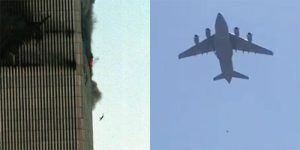 A 9/11 jumper and a person falling from a plane leaving Afghanistan