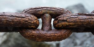 An old, rusty chain