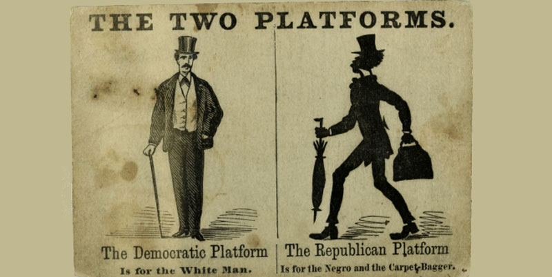 Racist Democrat Party poster from the Civil War era