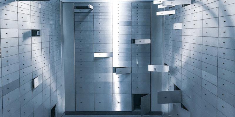 Open safe deposit boxes
