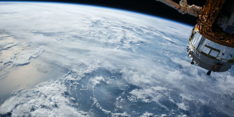 A satellite over Earth
