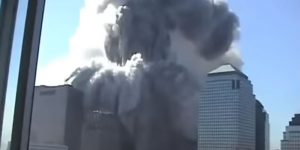 The North Tower collapses