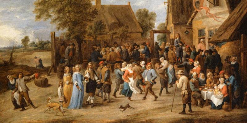 David Teniers' Village Revel with Aristocratic Couple