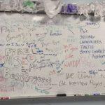 Whiteboard harassment of Ramona Bessinger