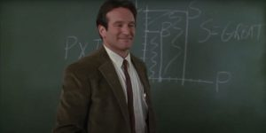Robin Williams charts poetry in Dead Poets Society