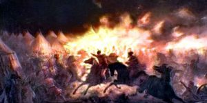Theodor Aman's The Battle With Torches